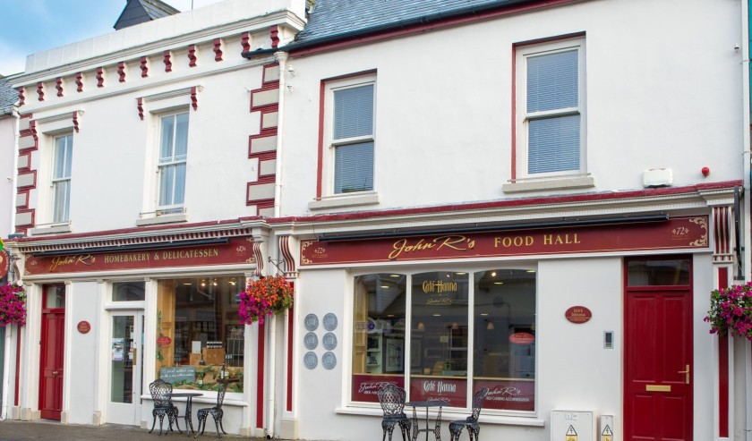 John R's foodhall, Listowel,Co. Kerry food, cafe, accommodation